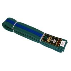 Centura verde cu tresă albastră